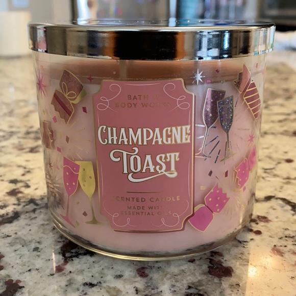 New Bath & Bodyworks 3 wick Champagne Toast Candle